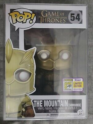Funko Pop! The Mountain (Armoured), Official SDCC sticker 2017 Game of Thrones