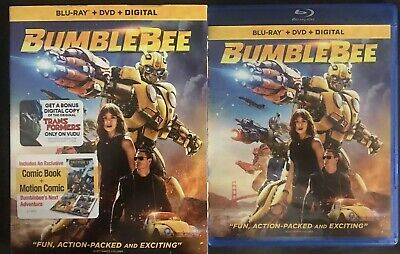 Bumblebee Blu Ray Dvd 2 Disc Set With Slipcover Free World Wide Shipping + Comic