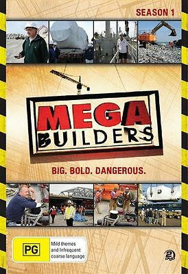 Mega Builders: Season 1 (DVD, 2-Disc Set)  Region 4 - New and Sealed