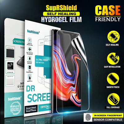 Samsung Galaxy S8 S9 S10 Plus Note 8 9 SupRShield Full Coverage Screen Protector