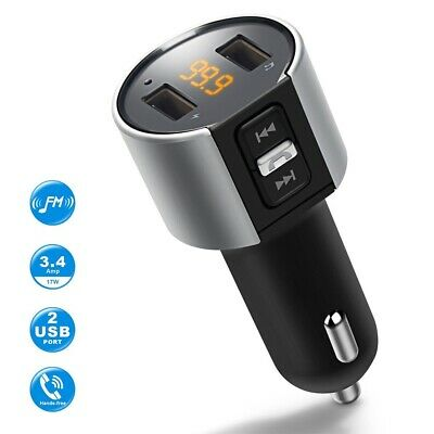Mulit-Function Bluetooth car FM Transmitter MP3 player 2 USB Voltage Detection