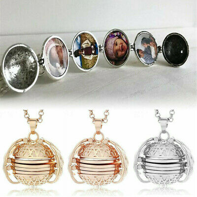 Expanding 4 Photos Family Locket Necklace Gorgeous Pendant Precious Love Gift aa