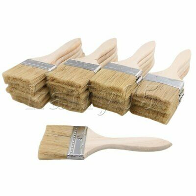 20PCS 3 Inch Mixed Silk Bristles Chip Brush for Smooth Paint Oil Stain Wax