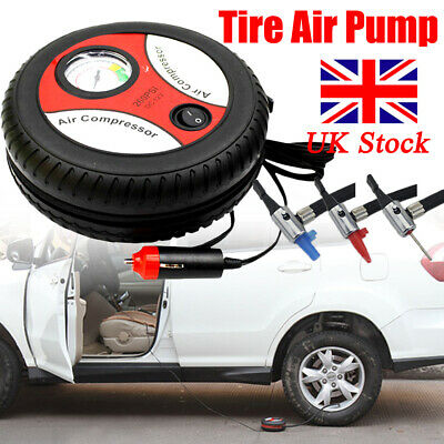 12V Portable Air Compressor Wheel 260psi Tyre Inflator Pump Car Auxiliary Tools