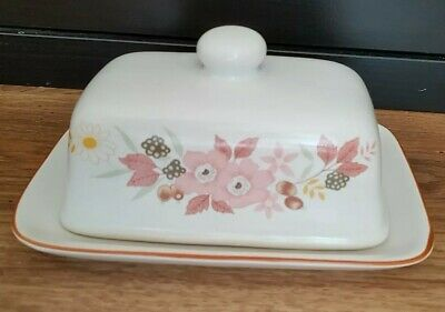 BOOTS HEDGE ROSE Butter Dish VGC