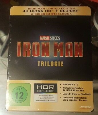 Iron Man Trilogy - Limited Edition Steelbook (Blu-ray + 4K UHD) BRAND NEW!!