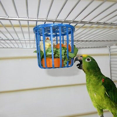 2pc Bird Parrot Feeder Cage Fruit Vegetable Holder Cage Hanging Basket ContainHQ
