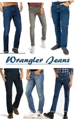 99b9ec8a Mens Classic Wrangler Regular Fit Denim Stretch Jeans / Pant / Trouser