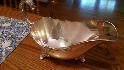 Signed Sheffield Reproduction Silverplated Large Sauce/Gravy Boat-Open Handle