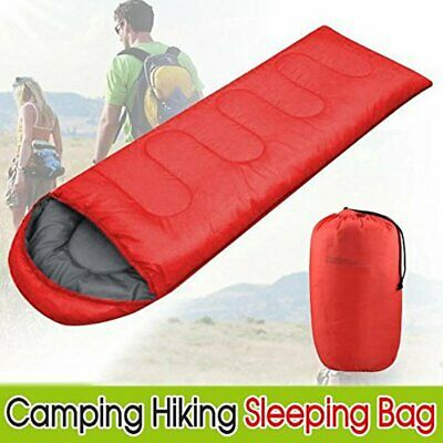 4 Season Waterproof Sleeping Bag Single Person Camping Hiking Case Envelope Zip