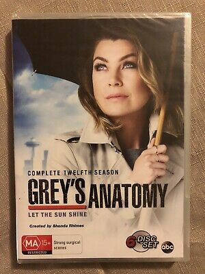 Greys Anatomy : Season 12 : Aus Pal : 6 - Disks DVD Set!  Brand New Sealed!!