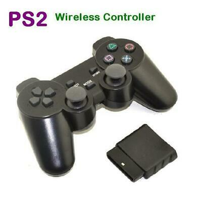 Black Wireless Sony Playstation 2 PS2 Gamepad Dual Shock Game Controller
