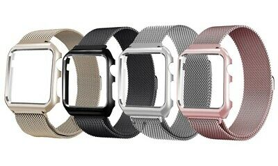 WATCH STRAP MILANESE MESH with Face Plate 4 COLOURS for Apple 40 & 44 Series 4
