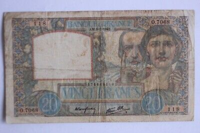 Billet 20 Francs science et travail type 1940 France (31340)