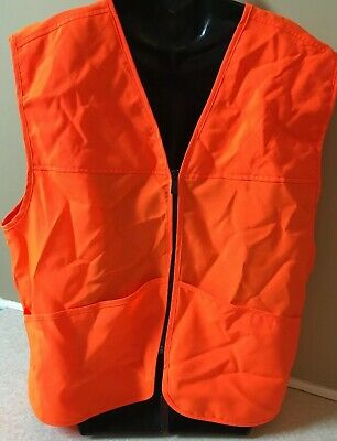 8b588860b4ec0 Hunting Safety Vest by Outfitters Ridge Blaze Orange Men's size L 42/44  Large