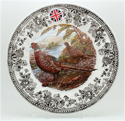 Queen's Quintessential Game Collection Pheasant / Set of 4 Salad Plates