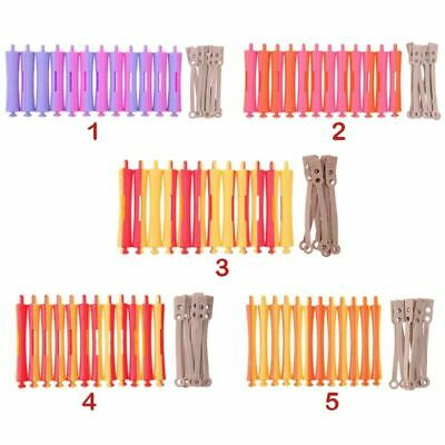 Rubber Band Clip Curler Perm Rod Hair Roller 6pc 12pc Salon Hairdressing Styling