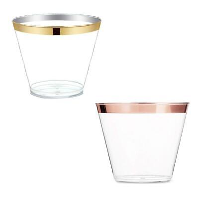 6X Plastic Champagne Cocktail Wine Cup Disposable Juice Party Wedding Glass