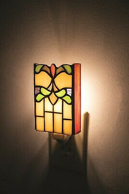 Victorian Trading Co Stained Glass Art Deco Nite Light