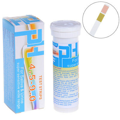 150 Strips bottled ph test paper range ph 4.5-9.0 for urine & saliva indicator ^