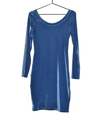 1084f8f461a ANTI-FLIRT COLLECTION Robe Bleue Stretch Taille 3 40FR Manches Longues  Fluide