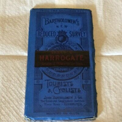 Vintage Bartholomews Reduced Survey Cloth Map Of Harrogate Tourists & Cyclists 6