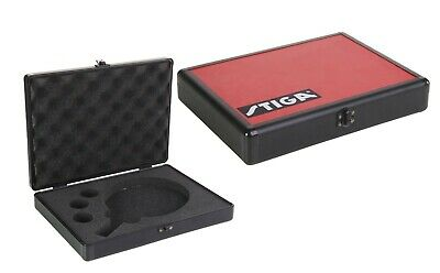 Stiga Red Aluminium Bat Box - Durable Table Tennis Bat & Ball Case