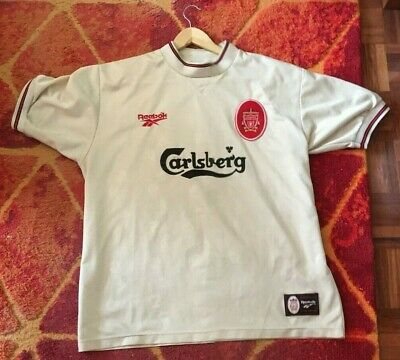 Liverpool Football Club - Camiseta Retro Vintage ( 1996 - 1997 ) Reebok