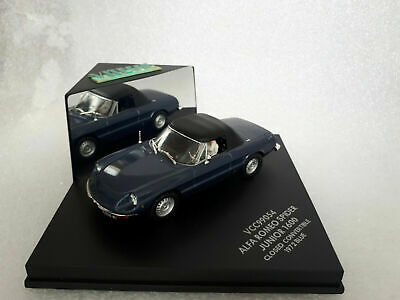 ALFA ROMEO SPIDER JUNIOR CLOSED CONVERTIBLE 1600 1972 Blue 1/43 Vitesse VCC99054