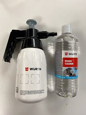 **Genuine Würth  Brake Cleaner Solvent & Pump Spray Dispenser 1Ltr Bottle*****