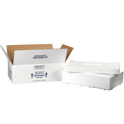 """PARTNERS BRAND 260C Insulated Shipping Kits, 19 1/2""""x11 1/2""""x4 1/8"""", White"""