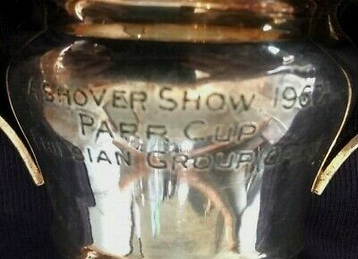 1952 Ashover Show Derbyshire silver plate Friesian trophy, loving cup, trophies