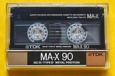 1x TDK MA-X 90 METAL Cassette Tape 1988 + TOP Zustand + Excellent Condition +