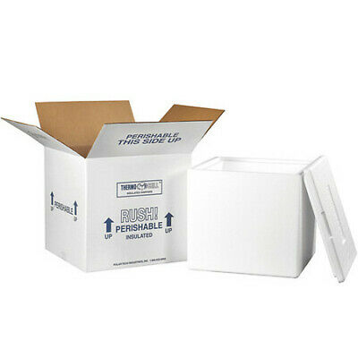 """PARTNERS BRAND 240C Insulated Shipping Kits, 13""""x13""""x12 1/2"""", White"""