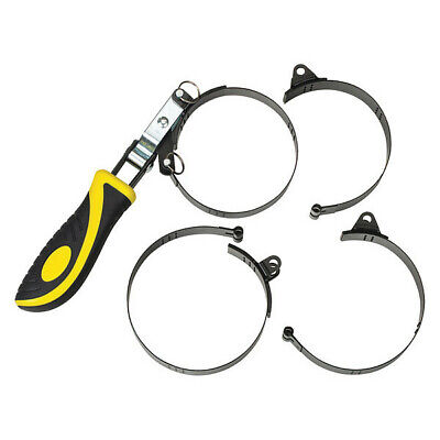 "LUMAX LX-1805 4-in-1, Swivel Handle Oil Filter Wrench Set, 2-3/8"" to 4-3/8"" Dia."
