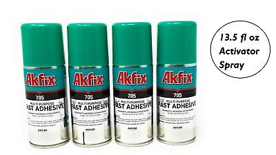 Akfix 705 Aerosol Accelerator Cans [Activator] for CA Glues 400ml (4-100ml Cans)
