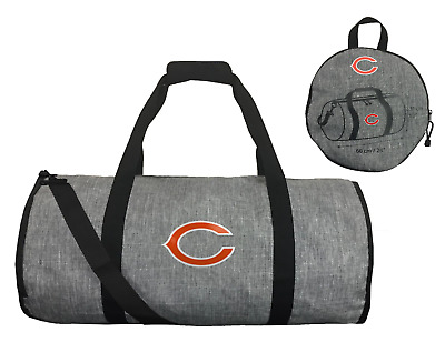 d54a1819092 NFL Chicago Bears Northwest Wingman Expandable Gray Barrel Duffel Bag