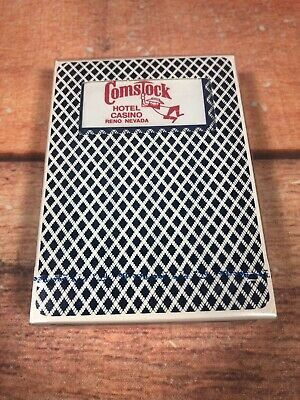 Vintage Comstock Hotel Casino Playing Cards Club Special 92 Bee Blue Sealed G31