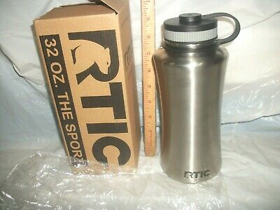 RTIC ( THE SPORT ) Double Wall Vacuum Insulated Water Bottle, 32 oz, stainless