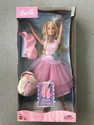 NIB Barbie Ballet Dreams BARBIE 2004 Dance Ballerina Doll WITH Dress and Shoes