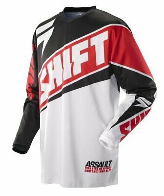Shift Racing Assault Red White Offroad Motocross MX Race Jersey Youth XLarge