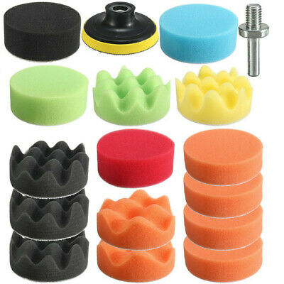 19pcs Sponge Épilation Polissage Chamois Pads Set Kit With Drill Adaptateur