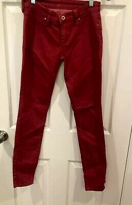 Blank NYC Red Ankle Jeans Women's Size 25