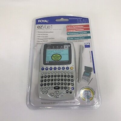 Royal EZVUE1 1MB Personal Digital Assistant New In Box