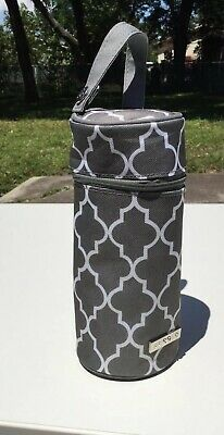 JJ Cole Single Bottle Cooler/ Insulated And Avent Pacifier Stone Dark Grey Nwot