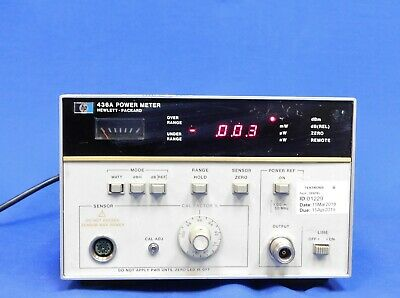 Agilent HP Keysight 436A Digital RF Power Meter w Option 002 022 Untested