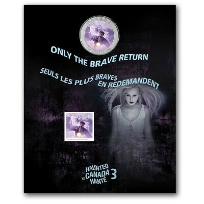 2016 25c 2016 Haunted Canada Coin and Stamp Set