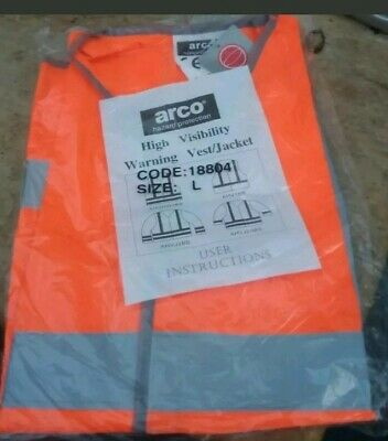 High visibility pack of 10. vests Size M.   Brand New