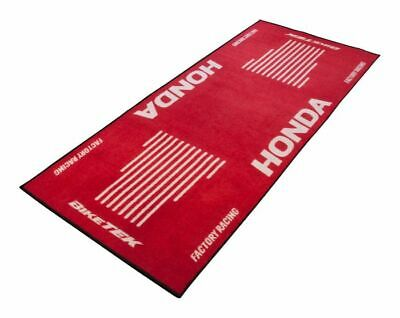 BikeTek Series 3 Honda Logo Garage Rug Floor Workshop Mat 190 X 80cm