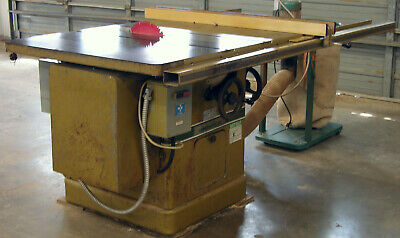 "Powermatic Model 72A 7.5Hp 14""  Left Tilt Table Saw W/Fence"